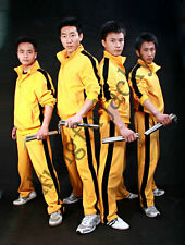 Mens Yellow Bruce Lee Game Of Death kill Bill Track suit Kungfu Ninja Uniform