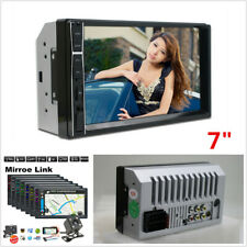 7'' 2 DIN HD Touch Screen Car Stereo Radio MP5 Player Bluetooth AUX +Rear Camera