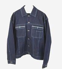 Platinum Jean Mens Blue Button Down Long Sleeve Denim Jean Jacket Size XL