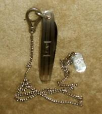 1980's Men's Sterling Zoot Suit Bertram-Hen and Rooster Pocket Knife and Chain