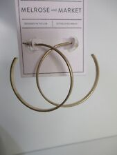 Nordstrom Melrose and Market Hammered Hoop Earrings NWT $50 GOLD