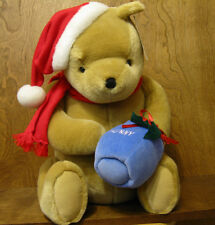 "Classic Pooh Gund  Plush #7989 POOH w/ SANTA HAT. 17"" NEW from Retail Shop"