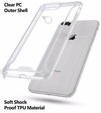 For iPhone 8 Plus / iPhone 7 Plus + Clear Shockproof 360° Bumper TPU Cover Case