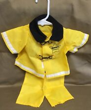 Peanuts Snoopy Plush Outfit Wardrobe Fireman Fire Fighter Suit Clothes Fits 11""