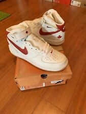 Nike Air Force 1 Mid Red Men's Athletic Shoes for sale   eBay