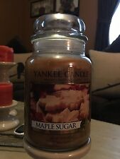 """Yankee Candle """"Maple Sugar"""" 22oz Large Jar Rare and Hard to Find"""