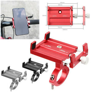 For Cell Phone GPS Aluminum Alloy Motorcycle Bike Bicycle Holder Mount Handlebar