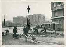 Paris 1940, boulevard de l'Indochine, porte de Pantin Vintage silver print
