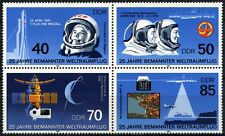 East Germany DDR 1986 SG#E2715-8 Manned Space Flight MNH Block Set #D59884