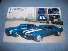 """1969 Camaro Z/28 & L78 SS396 Artículo """"Sobreviviente"""" Unrestored"""