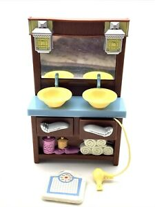 Loving Family Double Sink Vanity & Scale Dollhouse Furniture Fisher Price