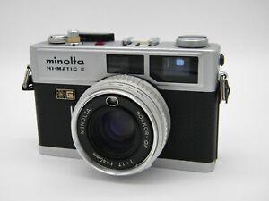 [Excellent] Minolta Hi-matic E f/1.7 40mm Compact Point & Shoot Film Camera A031