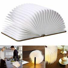 Wooden LED Buchlampe Holz Nachtlicht Tischdeko Leselampe Licht Mehrfarbig