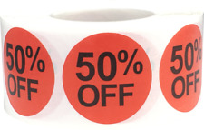 "Circle Retail Percent Off Stickers | 1"" Inch Round - 500 Pack 