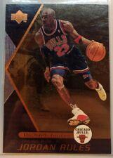 1998-99 UPPER DECK JORDAN RULES #J2, MICHAEL JORDAN, Rare Bronze MJ Insert