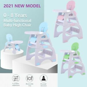 3 in 1 High Chair Highchair Convertible Play Table Conversion Seat - 3 Colours