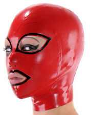 Sexy Latex Masks Gummi 0.4mm Cosplay Party Wear Rubber Hood Fetish Costumes