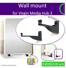Virgin Media Hub 3 wall mounting bracket. Holder. Black. Made in the UK by us