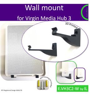 Virgin Media Hub 3 wall mounting bracket. Holder. Black. Made in the UK by us