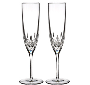 Waterford  Lismore Encore Champagne Flute Pair
