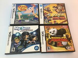 4 Nintendo DS games, MY SIMS, DONKEY KONG,KUNG FU PANDA,PHINEAS & FERB +boxes