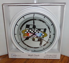 "NASCAR WALL CLOCK. 9"" DIA. REDNECK RACING.....FREE SHIPPING"