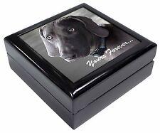 Weimaraner Dog 'Yours Forever' Keepsake/Jewellery Box Christmas Gift, AD-W79JB
