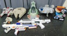 8 Star Wars Collectibles Toys lot collection boba fett millenium falcon blasters