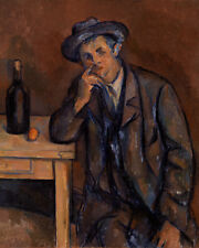 The Drinker by Paul Cézanne 60cm x 48cm Art Paper Print