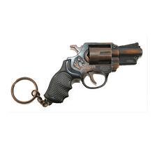 Imitation Metal Revolver Pistol Gun Model Keyring Revolving Gun Toy Car Keychain