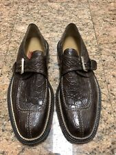 Cole Haan WILLOUGHBY Brown Crocodile Shoes