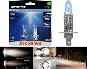 Sylvania Silverstar H1 55W Two Bulbs Fog Light Upgrade Replacement Plug Play OE
