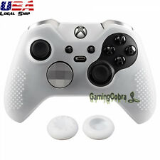 Clear Game Rubber Gel Cover Sleeve Skin Thumb Grip for Xbox One Elite Controller