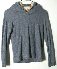 Marine Layer Shawl Collar Sweater Blue Gray Heather Large Toggle Pullover