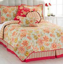 waverly charismatic honeysuckle 4pc king quilt set floral collection new bedding - Waverly Bedding