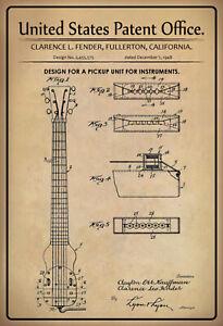 US Patent Aufnahme Instrumente 1948 Blechschild schild Tin Sign 20 x 30 cm P0243