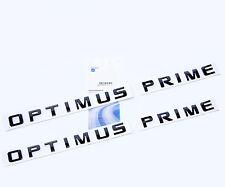 2x OEM Black OPTIMUS PRIME Nameplate Emblem Badge for Silverado Ford Truck W2U
