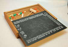 Vintage Antique Childs Toy Pegboard Pegs Hammer Chalkboard Case