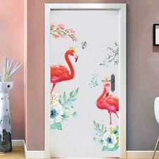 2Pcs Removable Flamingo Wall Window Stickers Waterproof Vinyl Home Decor 30x90cm
