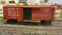 Athearn HO BB  40'  Boxcar, Minneapolis & St. Louis, Upgraded, EXC