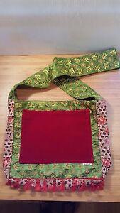 Patchwork Hobo Velvet Satin Crossbody Belly Bag HANDMADE by Belly Di California