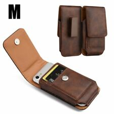 for iPhone 7/8 - VERTICAL BROWN Leather Pouch Holder Belt Clip Loop Holster Case