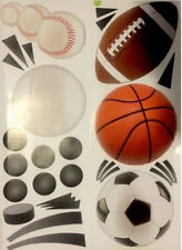 SPORTS wall stickers 24 stickups decor baseball soccer football  SCRAPBOOK teen