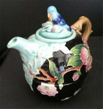 Dogwood Tube Lined Tea for One Teapot & Cup Ceramic Blue Sky Nib McCall
