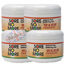 4 x 8oz Jar of Sore No More: 100% natural Pain Relieving Gel