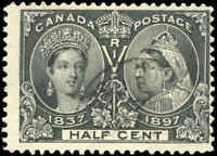 1897 Used Canada 1/2c F Scott #50 Diamond Jubilee Stamp