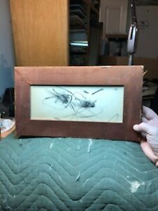 ARTIST SIGNED MODERN ABSTRACT PAINTING OR DRAWING PRESUMED JANOS MATTIS TEUTSCH