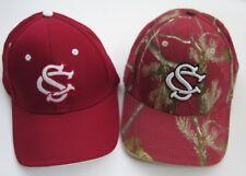 SC (UNIVERSITY OF SOUTH CAROLINA) GAMECOCKS NCAA ADJ. OSFM HATS CAPS, LOT OF 2
