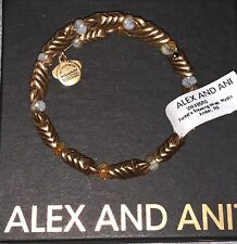 NWT Alex And Ani Womens Gold Forest's Blessing Wrap Bracelet Mystic