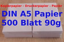 DIN A5  Papier Kopierpapier 500 Blatt Druckerpapier Laserpapier 14,8x21cm 90g